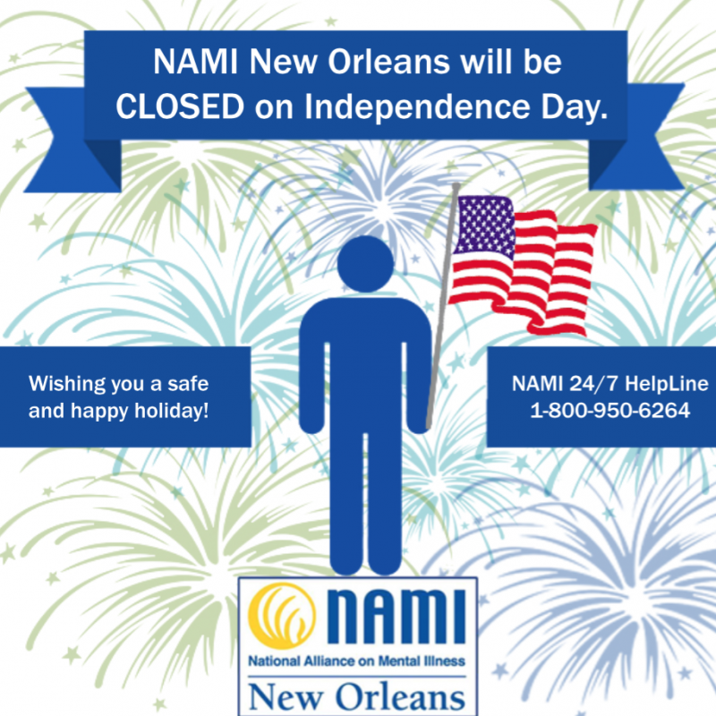 NAMI New Orleans Closed for Independence Day